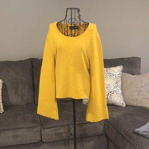 Gabrielle union NY&C mustard sweater